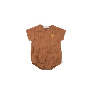Tinycottons  - ORANGE WRAP BODY CINNAMON - Clothing