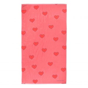 Tinycottons  - HEARTS TOWEL LIGHT RED RED - Homeware