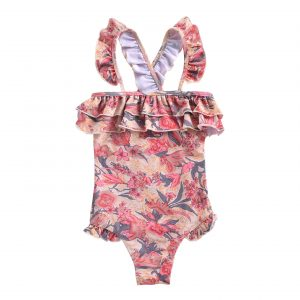 Louise Misha  - BATHING SUIT ZACATECAS PINK FLOWERS - Clothing