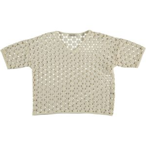 The New Society  - JASMIN CROCHET TOP NATURAL - Clothing