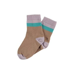 The New Society  - COLOR BLOCK SOCKS LAVANDE - Clothing