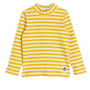 Mini Rodini  - STRIPE LONG SLEEVE T-SHIRT YELLOW - Clothing