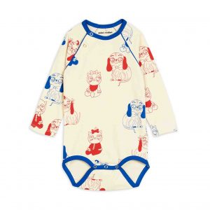 Mini Rodini  - MINI BABIES LONG SLEEVE BODY - Clothing