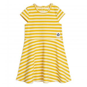 Mini Rodini  - STRIPE DRESS YELLOW - Clothing