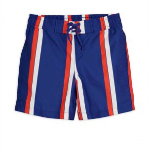 Mini Rodini  - STRIPE SWIM SHORTS BLUE - Clothing
