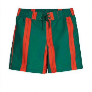 Mini Rodini  - STRIPE SWIM SHORTS GREEN - Clothing