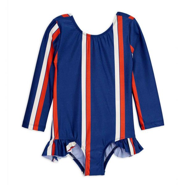 Mini Rodini  - STRIPE UV SWIMSUIT BLUE - Clothing