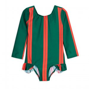 Mini Rodini  - STRIPE UV SWIMSUIT GREEN - Clothing