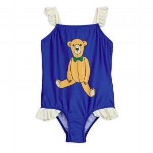 Mini Rodini  - TEDDY BEAR UV SWIMSUIT BLUE - Clothing
