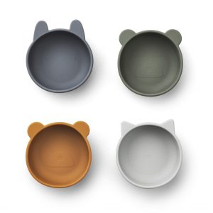 Liewood  - IGGY SILICONE BOWLS - 4 PACK BLUE MIX - Homeware