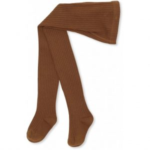 Konges Sløjd  - MATEO RIB TIGHTS CARAMEL - Clothing