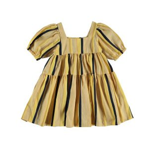 The New Society  - LORENZO DRESS STRIPE - Clothing