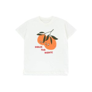 Tinycottons  - ORANGES TEE OFF-WHITE BRICK - Clothing