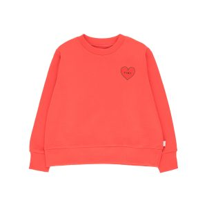 Tinycottons  - TINY HEART CROP SWEATSHIRT LIGHT RED RED - Clothing