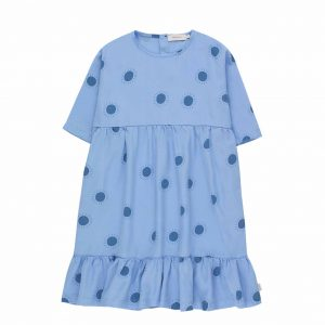 Tinycottons  - SUN BELLED DRESS CERULEAN BLUE SUMMER NAVY - Clothing