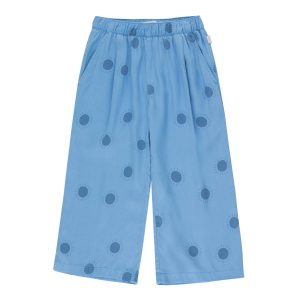Tinycottons  - SUN WIDE PANT CERULEAN BLUE SUMMER NAVY - Clothing