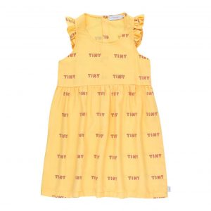 Tinycottons  - TINY FRILLS DRESS YELLOW RED - Clothing