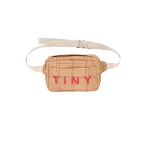 Tinycottons  - CHECK FANNY BAG TOFFEE RED - Accessories