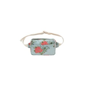 Tinycottons  - FLOWERS FANNY BAG SEA GREEN RED - Accessories