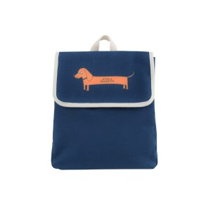 Tinycottons  - IL BASSOTTO BACKPACK LIGHT NAVY BRICK - Accessories