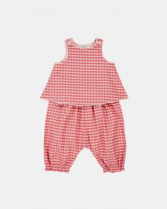 Caramel  - GREEN PARK BABY SET RED PAINTED CHECK - Clothing
