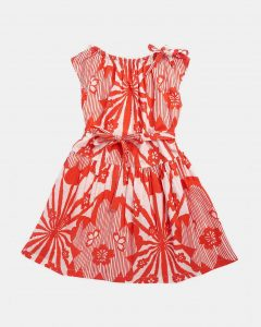 Caramel  - NOTTING HILL DRESS RED FLOWER PRINT - Clothing