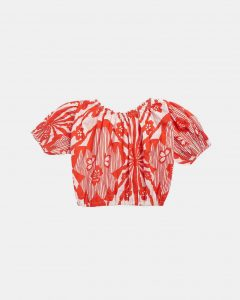 Caramel  - QUEENS PARK BLOUSE RED FLOWER PRINT - Clothing