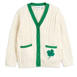 Mini Rodini  - CLOVER CARDIGAN WHITE - Clothing