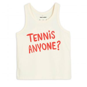 Mini Rodini  - TENNIS ANYONE TANK TOP OFFWHITE - Clothing