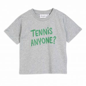 Mini Rodini  - TENNIS ANYONE T-SHIRT GREY MELANGE - Clothing