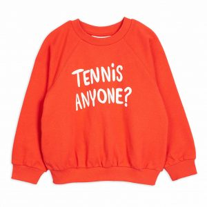 Mini Rodini  - TENNIS ANYONE SWEATSHIRT RED - Clothing