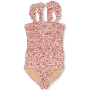Konges Sløjd  - UV SWIMSUIT BLOSSOM MIST GRENADINE - Clothing