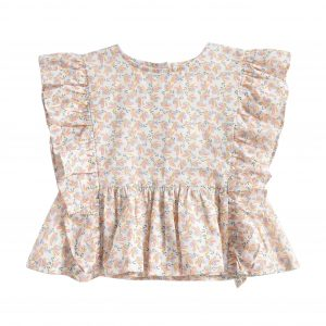 Louise Misha  - BLOUSE ANGITA CREAM PETALS - Clothing