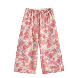 Louise Misha  - PANTS FLOR PINK FLOWERS - Clothing