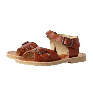 Young Soles  - PEARL SANDAL CHESTNUT BROWN LEATHER - Footwear
