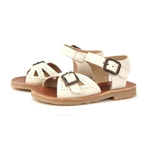 Young Soles  - PEARL SANDAL VANILLA LEATHER - Footwear
