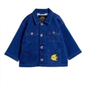Mini Rodini  - FISH SAFARI JACKET BLUE - Clothing