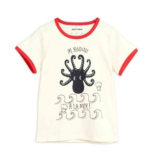 Mini Rodini  - OCTOPUS T-SHIRT RED - Clothing