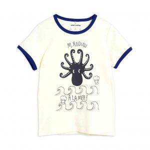 Mini Rodini  - OCTOPUS T-SHIRT BLUE - Clothing