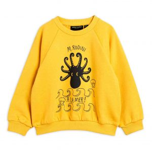 Mini Rodini  - OCTOPUS SWEATSHIRT YELLOW - Clothing