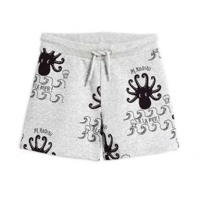 Mini Rodini  - OCTOPUS SWEATSHORTS GREY MELANGE - Clothing