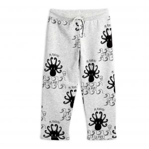 Mini Rodini  - OCTOPUS SWEATPANTS GREY MELANGE - Clothing
