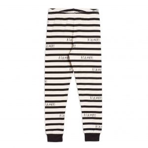 Mini Rodini  - A LA MER LEGGINGS OFFWHITE - Clothing