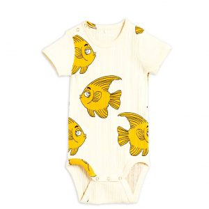 Mini Rodini  - FISH BODY OFFWHITE - Clothing