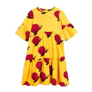 Mini Rodini  - SHELL LONG DRESS YELLOW - Clothing