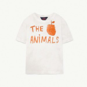 The Animals Observatory  - ROOSTER KIDS T-SHIRT WHITE THE ANIMALS - Clothing