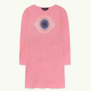 The Animals Observatory  - CRAB KIDS DRESS PINK EYE - Clothing