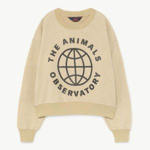 The Animals Observatory  - BEAR KIDS SWEATSHIRT YELLOW PLANET - Clothing
