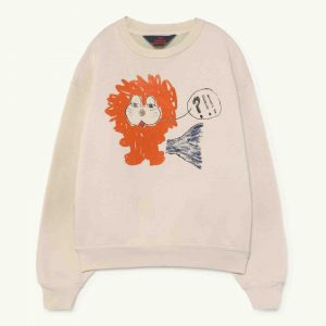 The Animals Observatory  - BEAR KIDS SWEATSHIRT WHITE LION - Clothing