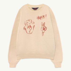 The Animals Observatory  - BEAR KIDS SWEATSHIRT PINK HAPPY - Clothing